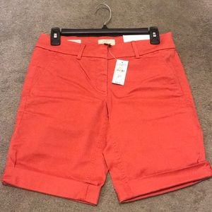 LOFT Burnt Orange Bermuda Shorts